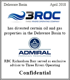 3Roc Admiral has divested certain oil and gas properties in the Delaware Basin to Admiral Permian Resources - Confidential